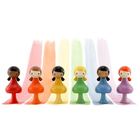 clicques poppetjes rainbow girls